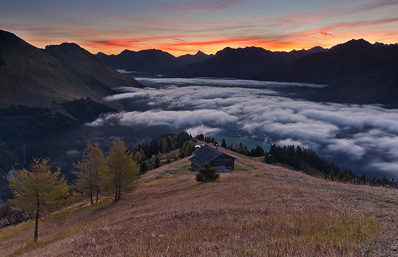 Nebel über dem Lechtal
