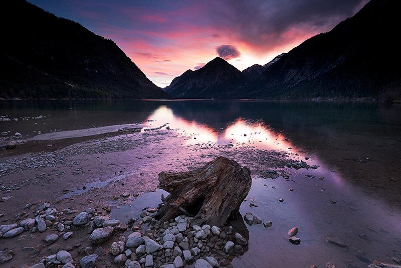 Morgenrot am Heiterwanger See