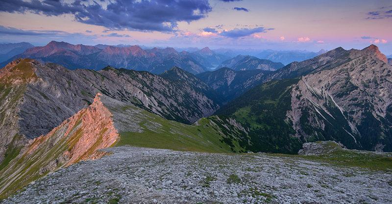 Rote Bergspitzen